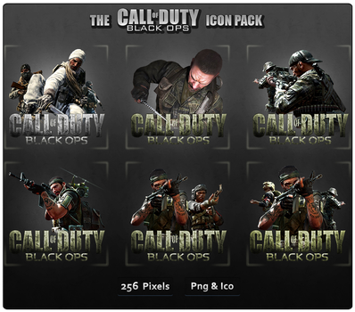 CoD Black Ops - Game Icon Pack by Crussong
