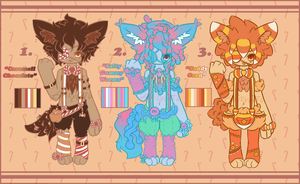 .:CANDY CREATURE ADOPTABLES (CLOSED):. by GloryCat