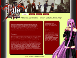fate stay night website by darrelltate