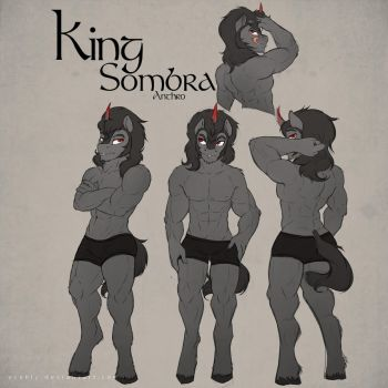 Anthro King Sombra by Evehly