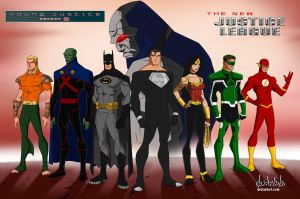 Young Justice Season 3 The Justice League Team by dark-BuB
