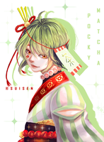 Matcha Pocky by Sui-sen