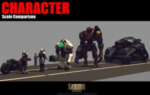 Character Scale Comparison by cg-sammu