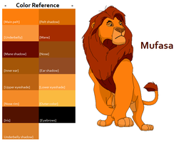 TLK Mufasa Color Reference by FeralHeartsFan