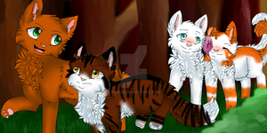 ThunderClan Patrol // 4 year difference by Wickaii