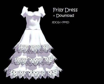MMD: frilly dress + DL by Chibi-Baka-San
