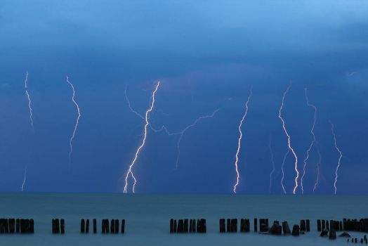 Storm over Baltic Sea by Sesjusz
