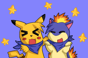 Pika and Quil - Lucky Star by PokeGirl5