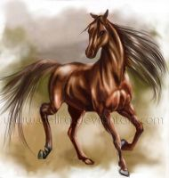 horse by delira