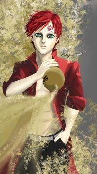 Gaara + Sand by craziephase