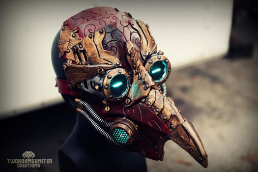 Arcane Steampunk/victorian LED plague doctor mask by TwoHornsUnited