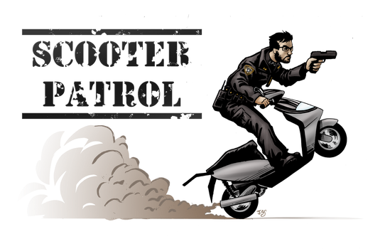 Scooter Patrol by TheRogueSPiDER