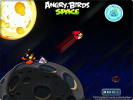Angry Birds Space Wallpaper A by MakioG