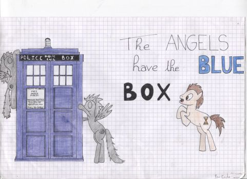 Dr Whooves and the angels who have the blue box by Missanissa