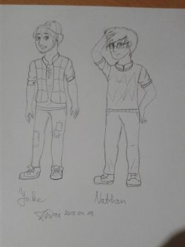 [Roleplay Illustration] Nathan and Jake by xNixaa-Da-Knightx