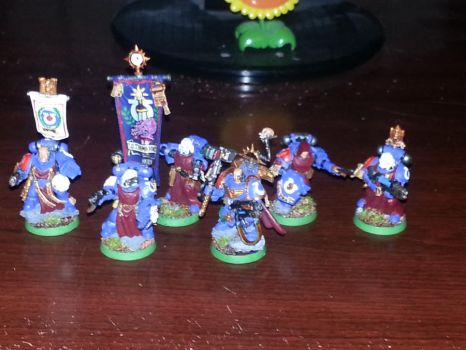 Ultramarines 3rd Company Command Squad by Stormcallerr