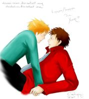 Cartman and Butters by Danna-sama