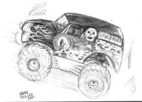 grave digger coloring page - 279px