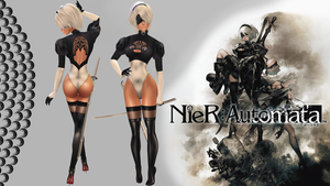 NieR: Automata_2B Outfit v2_PurrView :D by iRawr4Lara