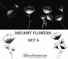 Dreamy Flowers -set 4- by Lileya