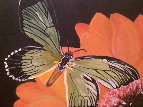 Butterfly Series #3 in Acrylice by ArtisticPaintbrush