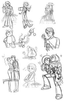 Toy Story Livestream Sketches by YoukaiYume