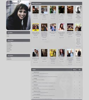 Fiona Dourif Coppermine Gallery Theme by xBrokenRose