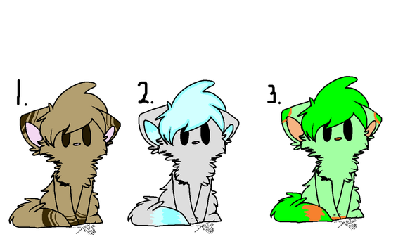 More Adoptables!! (closed) by cheezefreak