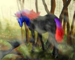 Unicorn Cassowary mix by FancyFairyFox