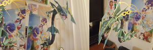 Pokemon Papercraft ~ Mega Rayquaza~ by SuperRetroBro