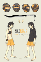 Black Ranger ref by HJeojeo