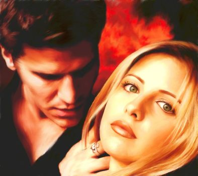 Buffy and Angel by jparker2001