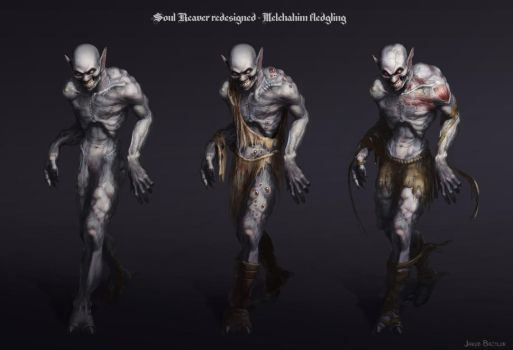 Soul Reaver redesigned - Melchahim fledglings by mrJB27