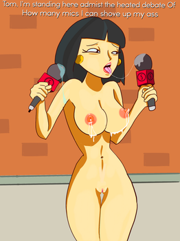 Tricia Takanawa lubing up some mics. Request done by Lingerie-Thief