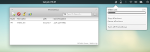 Prometheus - download manager for elementary by Dikoo