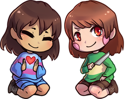 Tiny Chara / Frisk by Kastraz