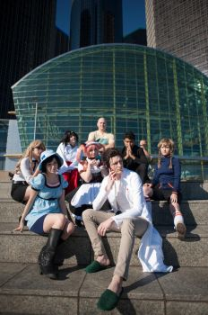 The Cast of Steins:Gate by LoftwingQueen