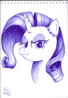 Rarity with blue pen by varijani
