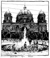 Fountain on Berlin Cathedral by RoodyN