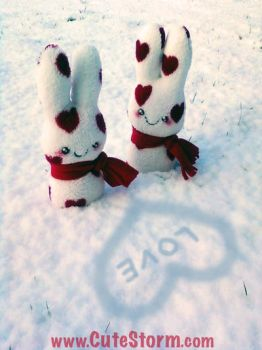 Snow Bunnies by The-Cute-Storm
