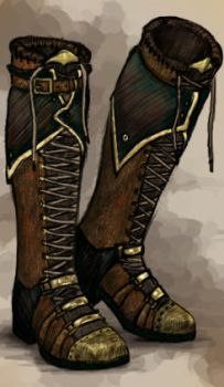 Steampunk boots by horseartaddict