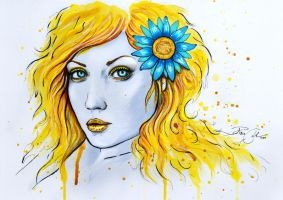 Portrait of the sun by PixieCold