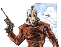 Sketch: Rocketeer by thejeremydale