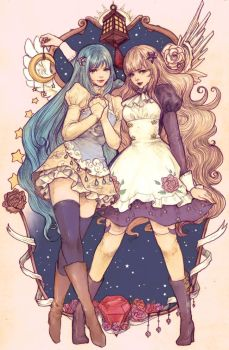 Luna and Astraia by yasa-hime