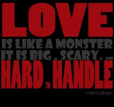 love is like a monster by boobeeh