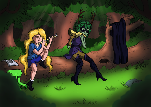 Adventure Time - Flute Practice by GuyverSnake