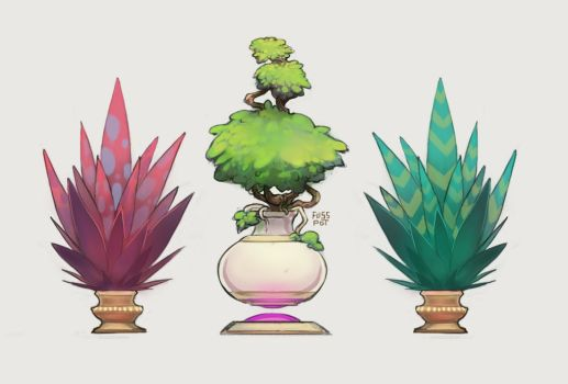 Potted Plants by fusspot