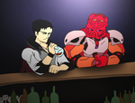 Commission- So Tahu walks into a bar by NickinAmerica