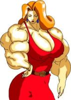 Nice Big Lady colored by RocMegamanX