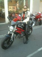 My motorbike Ducati Monster 796 and I by Sweetlylou